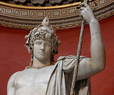 antinous as bacchus