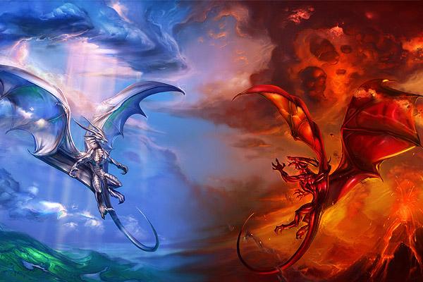 fire-dragon-ice-dragon-chaos-order-dragons